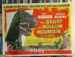 Sci Fi/the Beast Of Hollow Mountain/u19/british Quad Poster