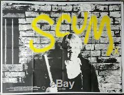 Scum (1979) Affiche Originale De Film Quad Britannique Ray Winstone Drame Borstal