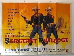Sergent Rutledge Original Uk Quad Affiche Du Film Tom Chantrell
