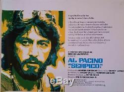Serpico Originale Royaume-uni Quad Affiche De Film 1973 Al Pacino (roulé)