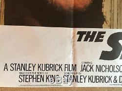 Shining Originale Du Film Uk Quad Affiche Du Film 1980 Jack Nicholson Kubrick Vgc