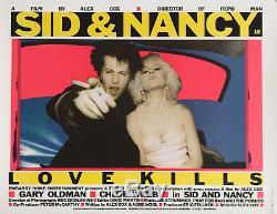 Sid Et Nancy Entoilée Britannique Quad Affiche De Film (1986) Gary Oldman
