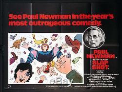 Slaphot Slapshot Paul Newman Hockey Sur Glace 1977 Quad Britannique Affiche De Film