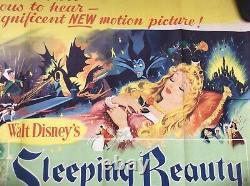 Sleeping Beauty Original Film Britannique Quad Affiche Du Film Classique De Walt Disney 1959
