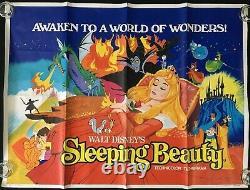 Sleeping Beauty Original Quad Movie Affiche Walt Disney Rr