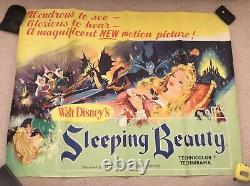 Sleeping Beauty Uk Quad Film Affiche Originale Walt Disney 1959