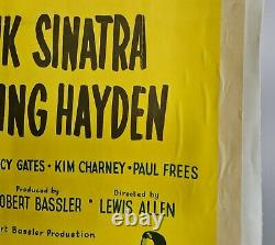 Soudain! Affiche De Cinéma Originale De Frank Sinatra 1954 Au Royaume-uni Quad (soutenu Par Linen)