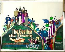 Sous-marin Jaune The Vintage Du Cinéma U. K. Quad Des Beatles Affiche Du Film 1968