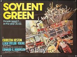 Soylent Green 1973 Affiche Britannique 30x40 Quad Charlton Heston Filmartgallery