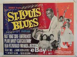 St. Louis Blues Affiche De Film Quad Uk D'origine Nat King Cole 1958