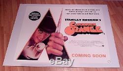 Stanley Kubrick Clockwork Orange Réédite Une Affiche Du Film Quad Britannique