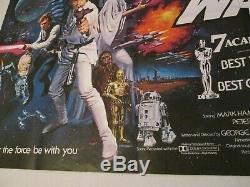 Star Wars 1977 Orig 30x40 British Academy Award Quad Affiche Du Film