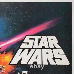 Star Wars 1977 Royaume-uni Quad Orson & Welles Film / Movie Poster Chantrell Linen Soutenu