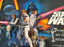 Star Wars Années 1970, Uk Movie Quad Linen Backed & Original
