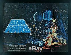 Star Wars Britannique Quad Cinemasterpieces Original Movie Poster 1977 Hildebrandt