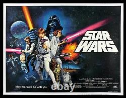 Star Wars Cinemasterpieces 1977 Uk Britannique Quad Style Rare __gvirt_np_nn_nnps<__ Affiche C Film
