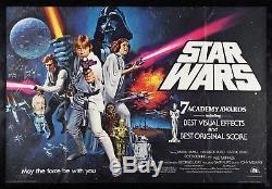 Star Wars Cinemasterpieces Rare Poster Original Du Film Britannique Uk Britannique 1977