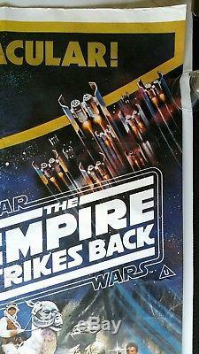 Star Wars / Empire Contre-arrière / Retour De La Jedi Originale Affiche Du Film Quad Britannique
