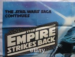 Star Wars, L'empire Contre-attaque, Affiche Originale Du Film Britannique Quad 1980