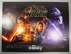 Star Wars La Force Awakens Harrison Ford Royaume-uni Originale Quad Affiche Du Film