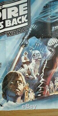 Star Wars Le Attaque Empire (1980) D'origine Affiche Du Film Quad Au Royaume-uni Nr Mint