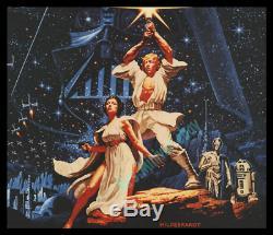 Star Wars Rare 1977 Hildebrandt Britannique Quad Affiche Film Solid C9 Nearmint