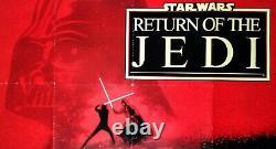 Star Wars Retour De La Jedi (1983) C. Rare Affiche Originale De Cinéma Quad Du Royaume-uni