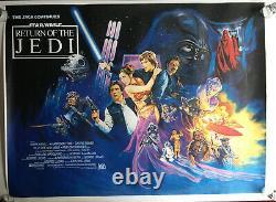 Star Wars Retour Du Film De Film De Cinéma Britannique Jedi 1983 Roulés 31 X 41