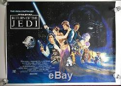 Star Wars Retour Du Jedi 1983 Film Quad Britannique Affiche Du Film Roulé 31 X 41