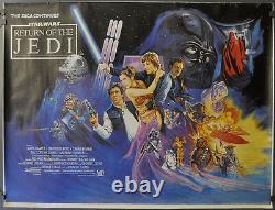 Star Wars Retour Du Jedi 1983 Orig 30x40 Laminés Quad Affiche Du Film