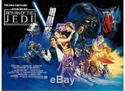 Star Wars Retour Du Jedi (1983) Uk Quad Affiche Originale De Film Vintage