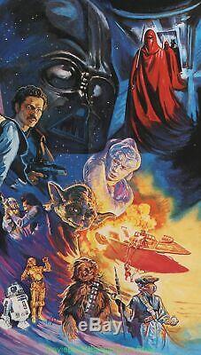 Star Wars Retour Du Jedi Affiche Du Film Orig. 1983 British Quad 30x40 Plié
