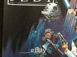 Star Wars Retour Du Jedi Au Royaume-uni Quad Original Rolled Affiche Du Film 27x40 Rare
