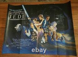 Star Wars Return Of The Jedi 1983 Orig 30x40 Quad Movie Affiche Harrison Ford