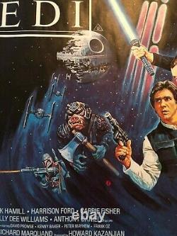 Star Wars Return Of The Jedi Original Britannique 1983 Quad Movie Poster Rare Rolled