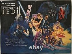 Star Wars Return Of The Jedi Original British Quad Affiche De Cinéma 1983