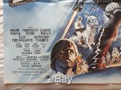 Star Wars, The Empire Strikes Back, Film Original 1980 Quad British Film Affiche