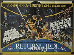 Star Wars Trilogy 1983 Original 30x40 Uk Quad B Affiche Du Film Mark Hamill