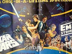 Star Wars Triple Feature (1983) 30 X 39.75 Affiche De Cinéma Du Royaume-uni Quad