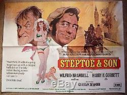 Steptoe Et Son Fils (1972) Affiche Du Film Harry Corbett Wilfrid Bramble- Uk Quad