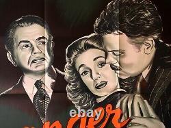 Stranger Original Quad Movie Cinema Affiche Orson Welles Film Noir Vintage 1946