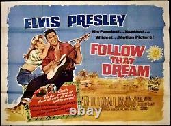 Suivez L'affiche De Cinéma Elvis Presley 1962 De That Dream Original Quad