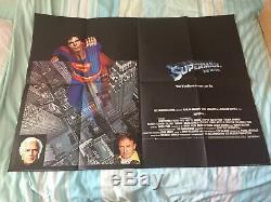 Superman Le Film Original Uk Quad Poster 1978 Christopher Reeve