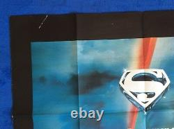 Superman The Movie Original Uk Quad Movie Poster Alternative Version
