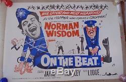 Sur Le Temps Norman Wisdom Original 1962 Affiche Cinema Uk Quad Film Film Rare