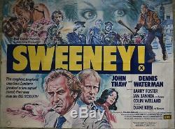 Sweeney! 1977 Original Film Royaume-uni Quad John Thaw Dennis L'affiche De Diane Keen Waterman