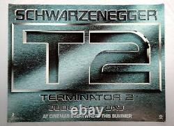 T2 Terminateur 2 (1991) Avancée Originale Rare Etats-unis Quad Film Affiche Schwarzenegger