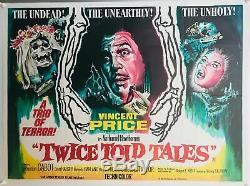Tales Deux Fois Told Uk Quad (1963) Film Affiche Originale