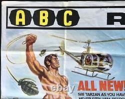 Tarzan Gold Valley Brides Fu Manchu Originale Quad Affiche Du Film Christopher Lee