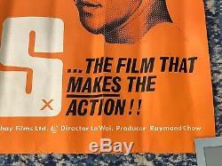The Big Boss Britannique Quad 1973 Originale Bruce Lee Poster Kung Fu Golden Harvest